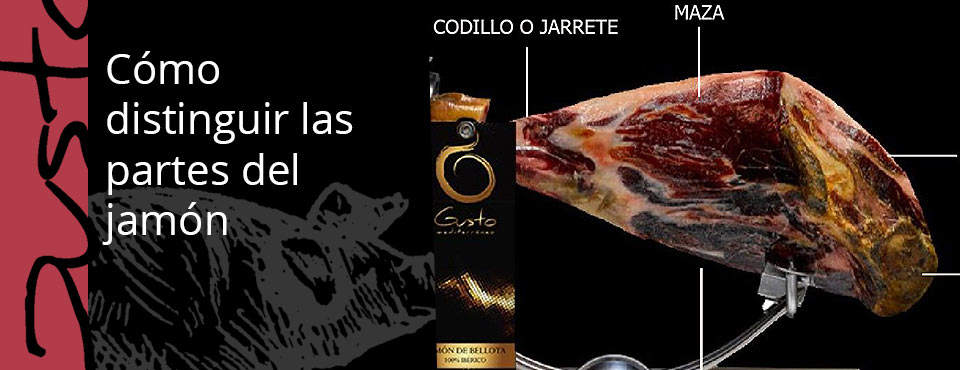 Distinguir partes del jamón ibérico